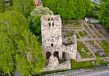 St Olofs Ruin, flygfoto